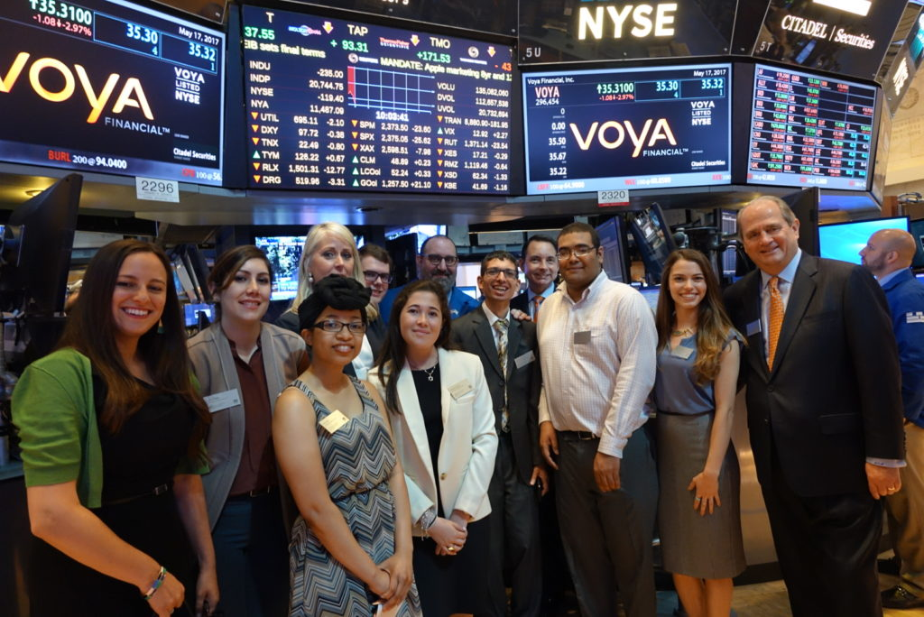 USBLN and Voya at the NYSE