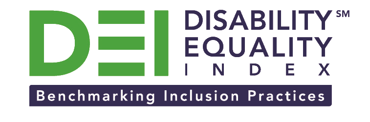 DEI Logo: Disability Equality Index, Benchmarking Inclusion Practices