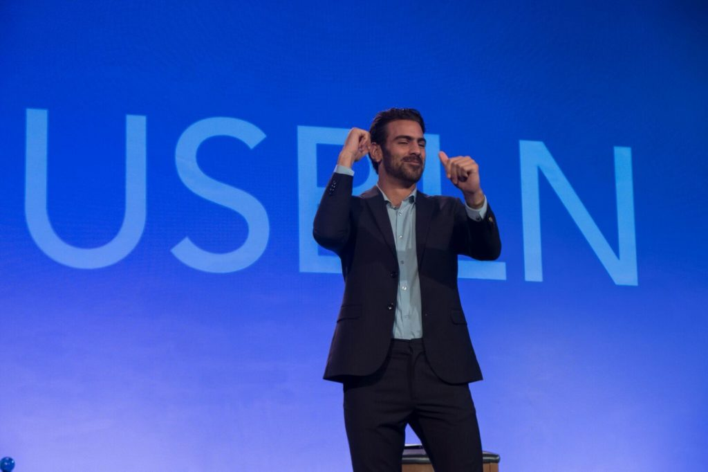 Nyle DiMarco speaks at 2017 USBLN Annual Conference