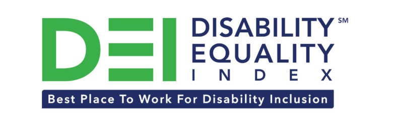 "USBLN DEI Logo with subtitle ""Best Place to Work for Disability Inclusion"""